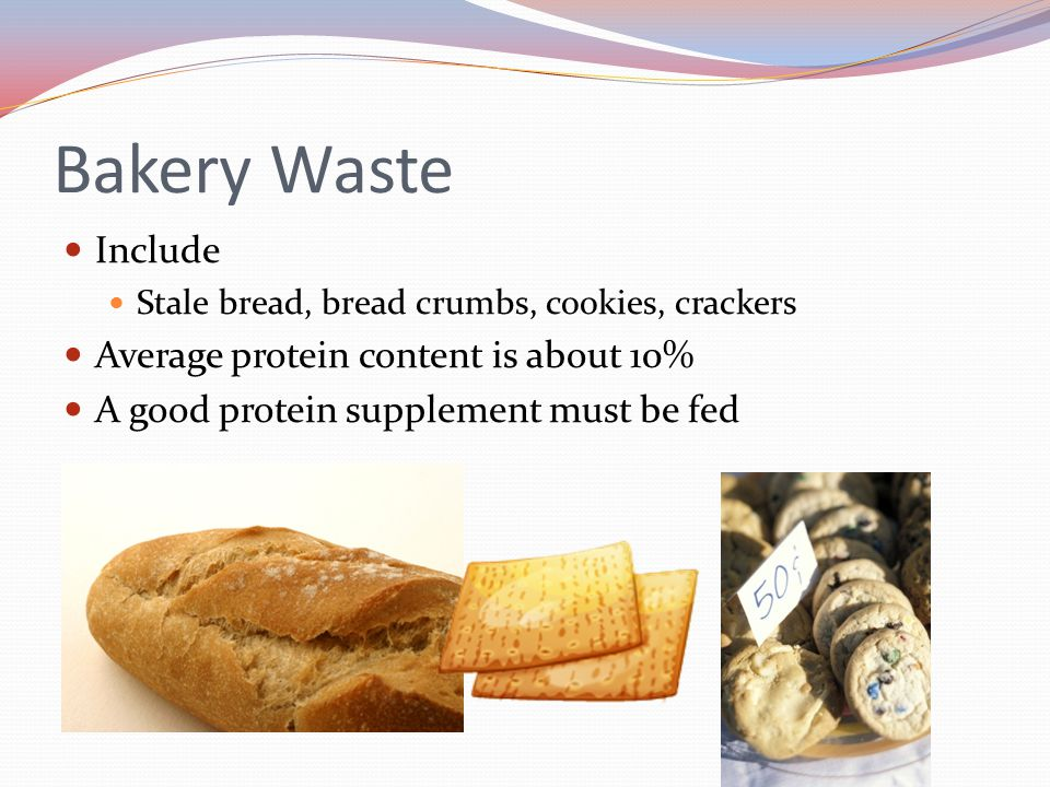 Bakery Waste Include Average protein content is about 10%