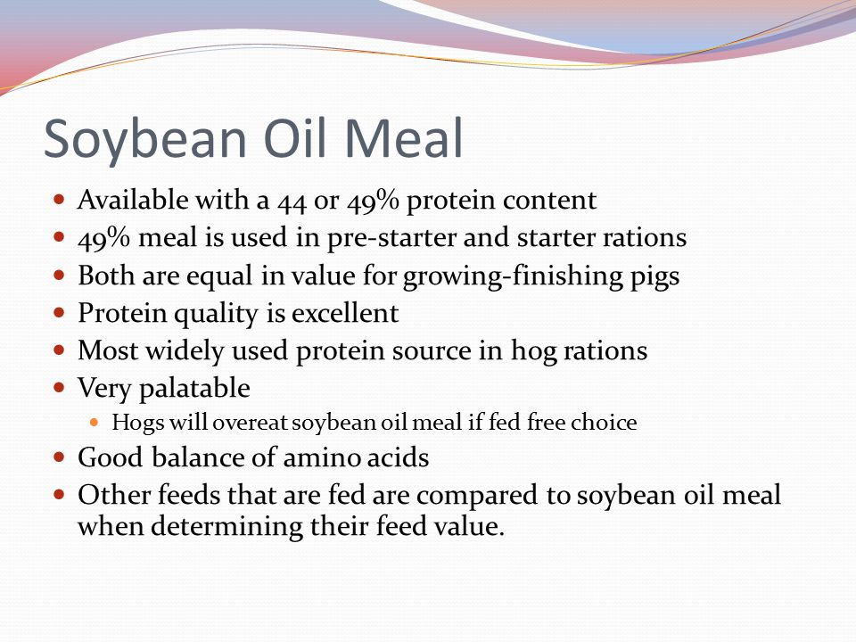 Soybean Oil Meal Available with a 44 or 49% protein content