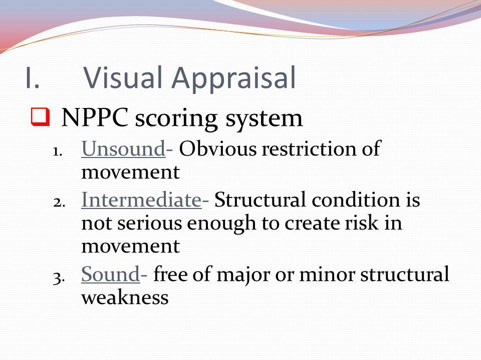 Visual Appraisal NPPC scoring system