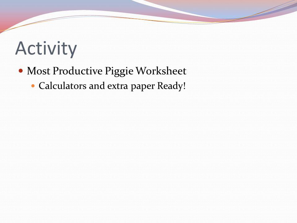 Activity Most Productive Piggie Worksheet