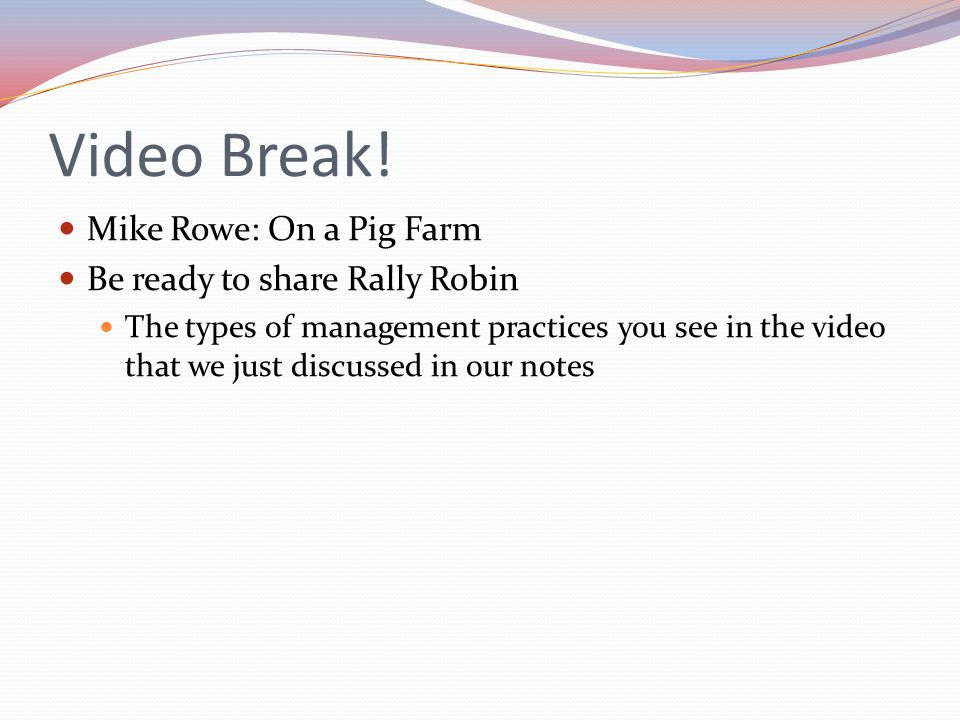 Video Break! Mike Rowe: On a Pig Farm Be ready to share Rally Robin