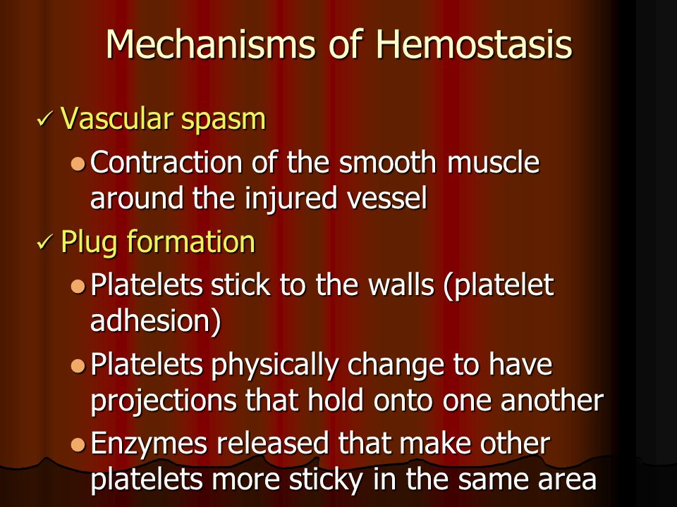 Mechanisms of Hemostasis