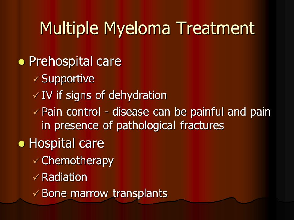 Multiple Myeloma Treatment
