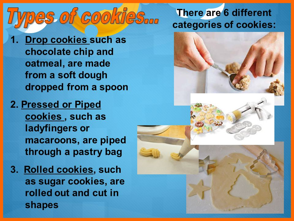 There are 6 different categories of cookies: