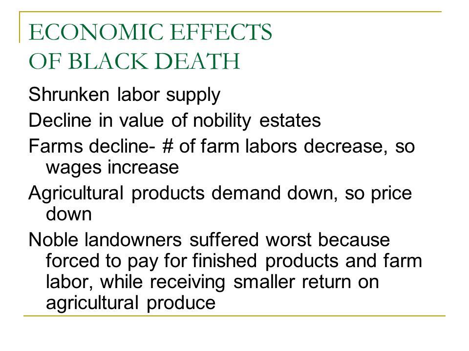 ECONOMIC EFFECTS OF BLACK DEATH