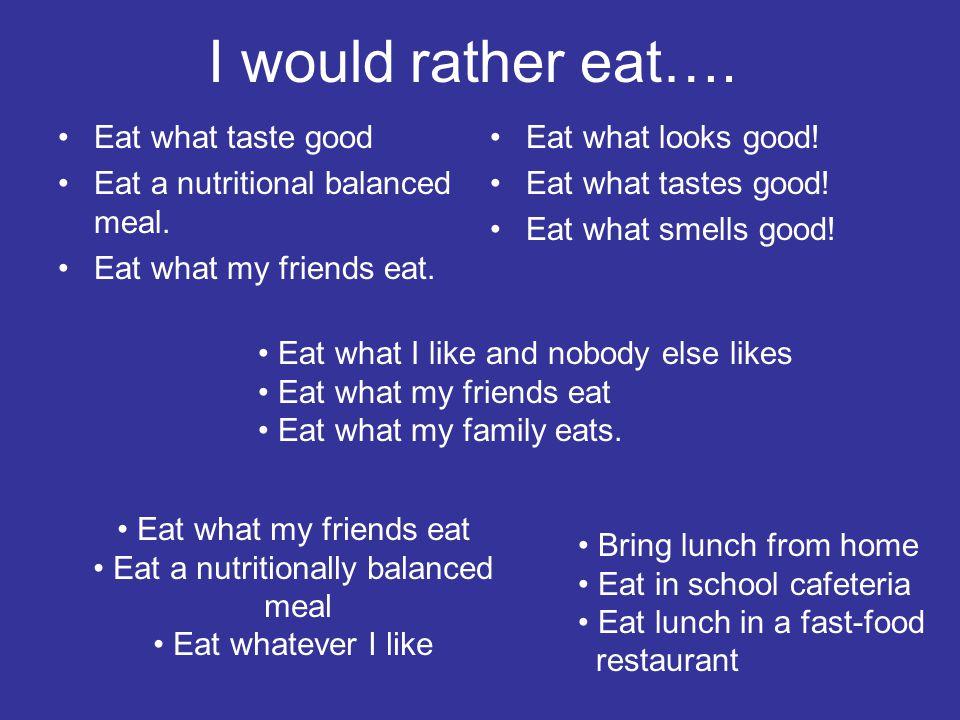 Eat a nutritionally balanced