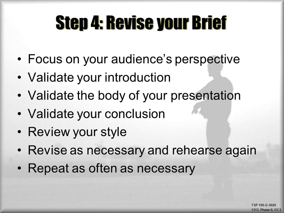 Step 4: Revise your Brief