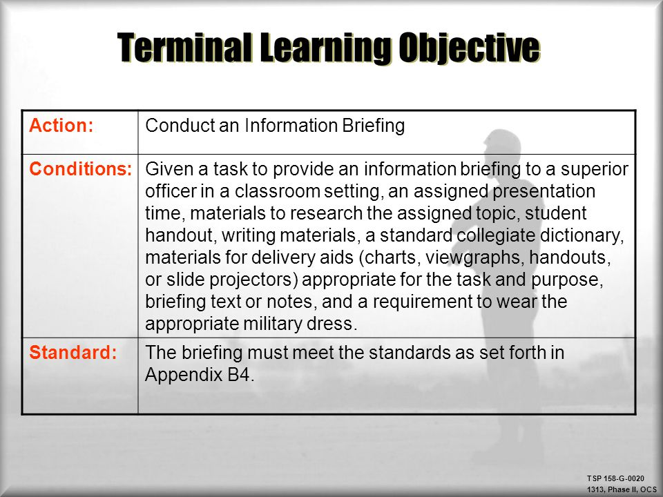 Classroom Design Aids Student Learning ~ Military briefings ppt video online download