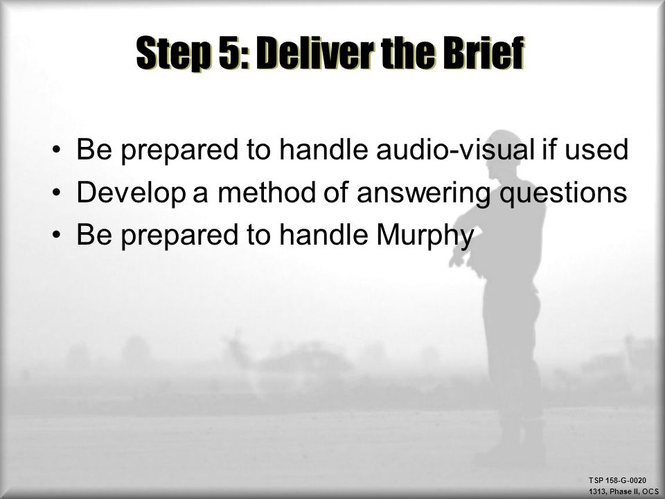 Step 5: Deliver the Brief