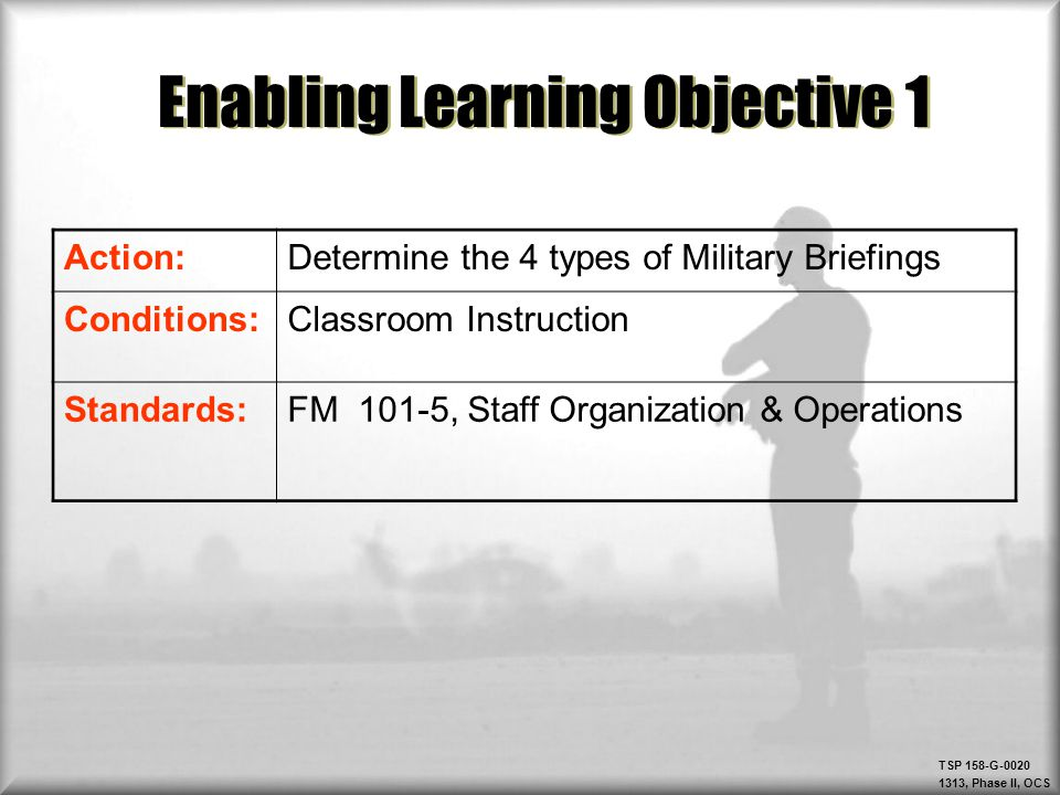 Enabling Learning Objective 1