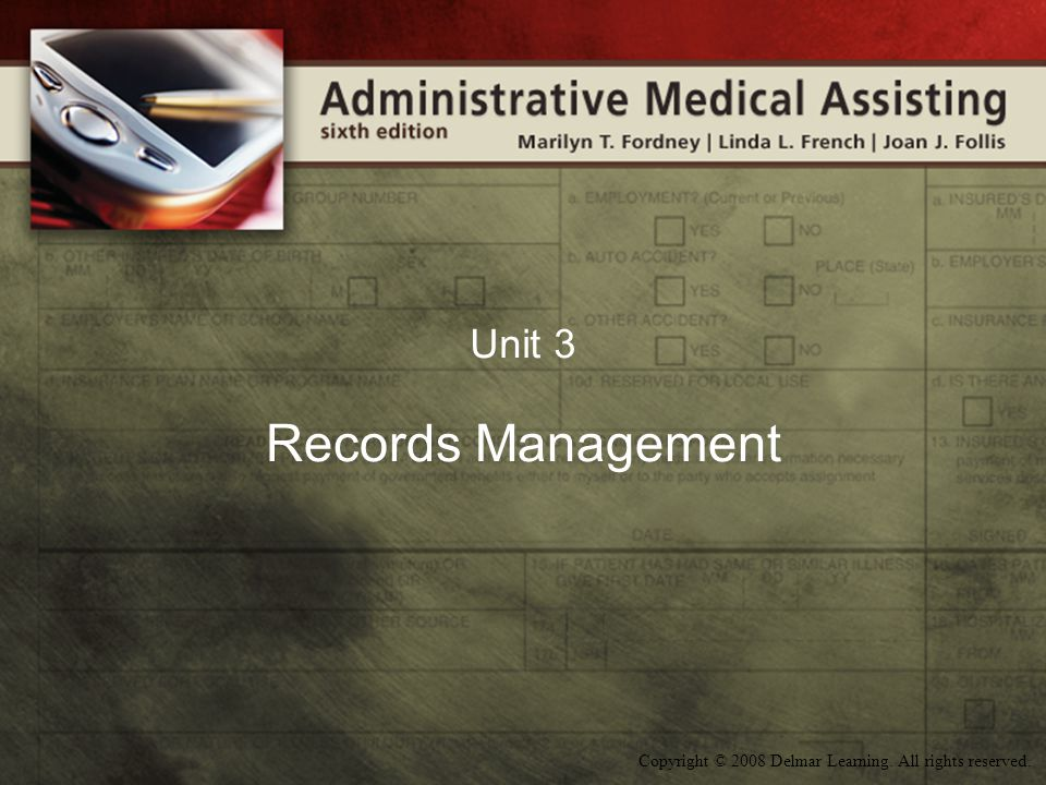 Unit 3 Records Management