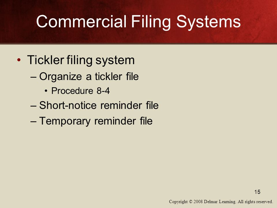 Commercial Filing Systems