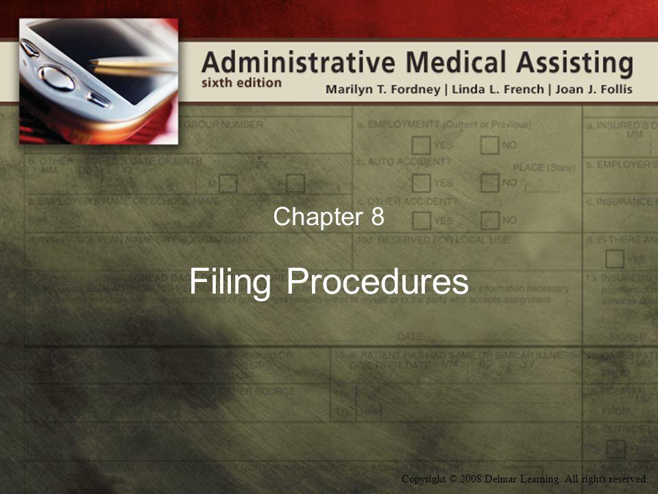 Chapter 8 Filing Procedures