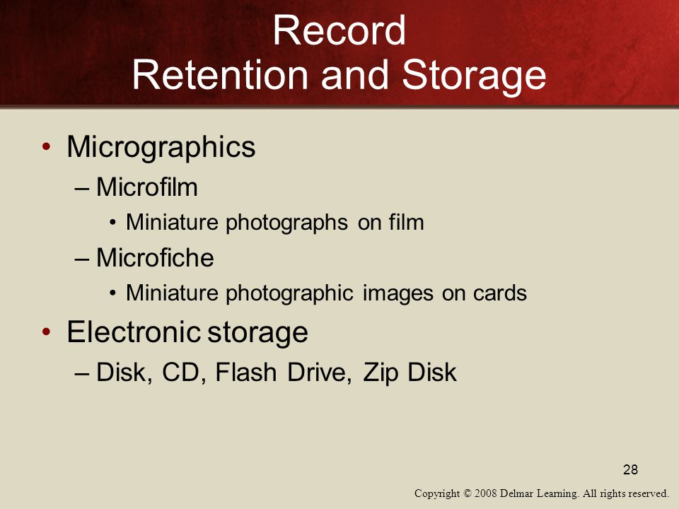Record Retention and Storage