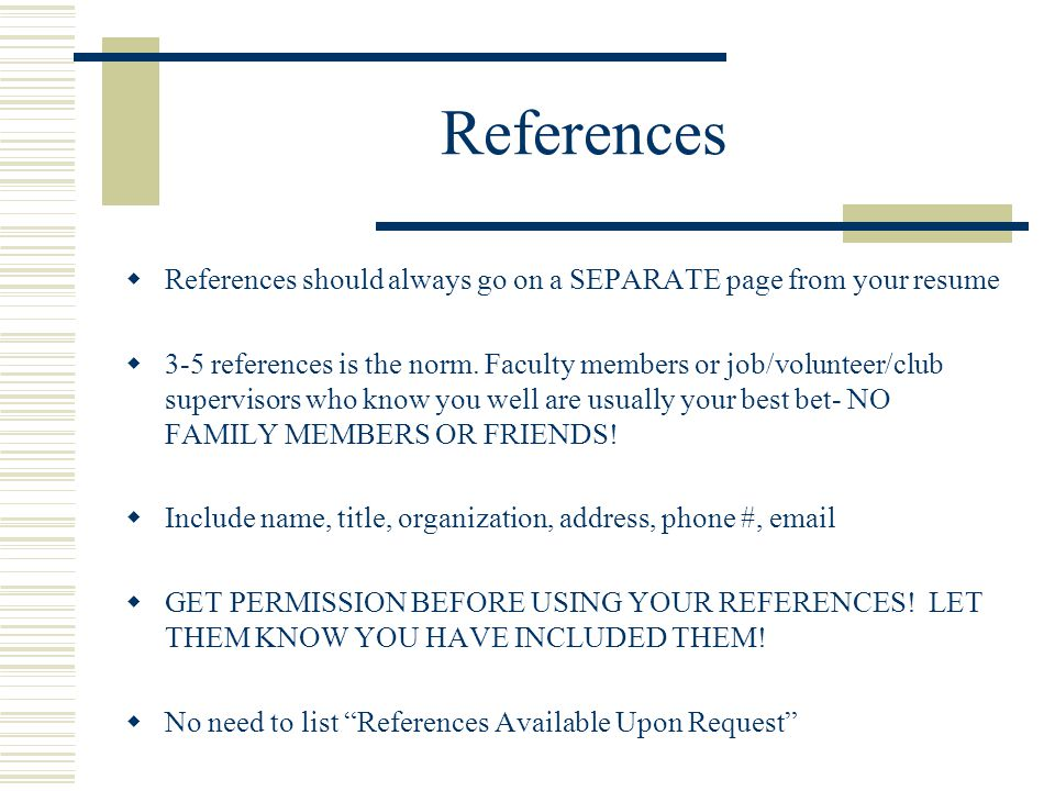 34 references references should
