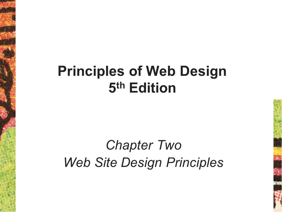 Principles of Web Design 5th Edition
