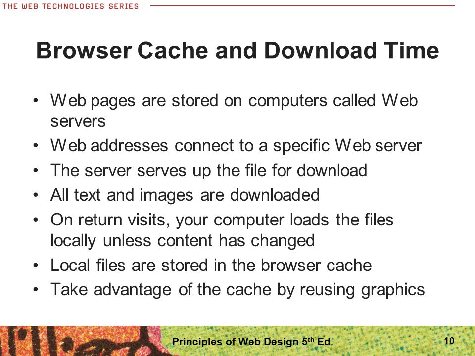 Browser Cache and Download Time