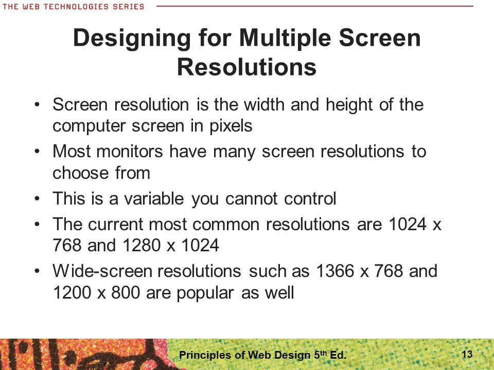 Designing for Multiple Screen Resolutions
