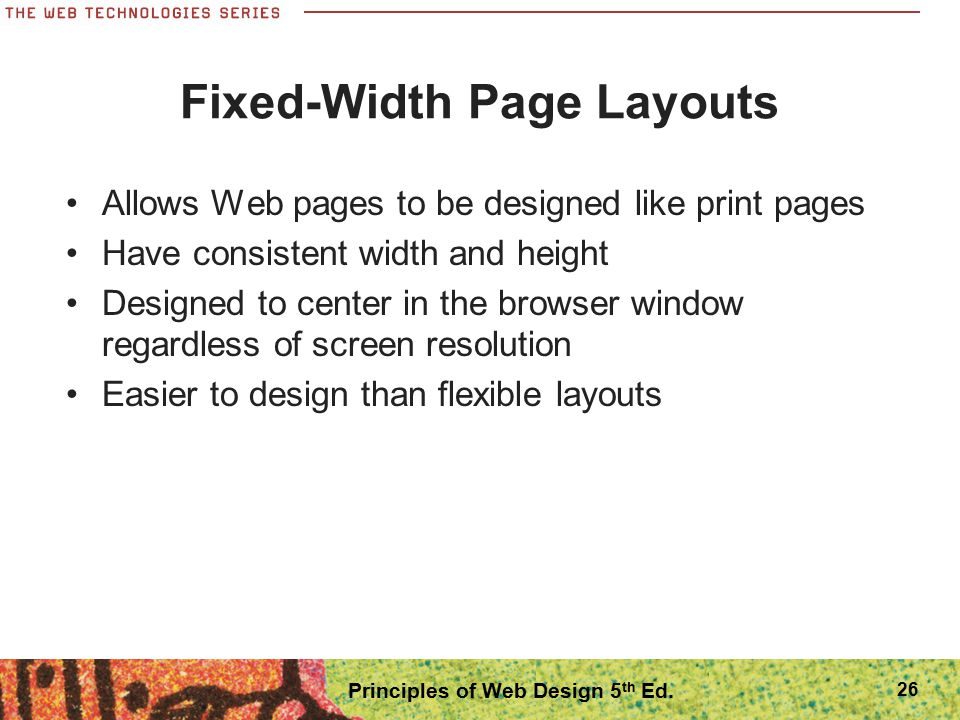 Fixed-Width Page Layouts