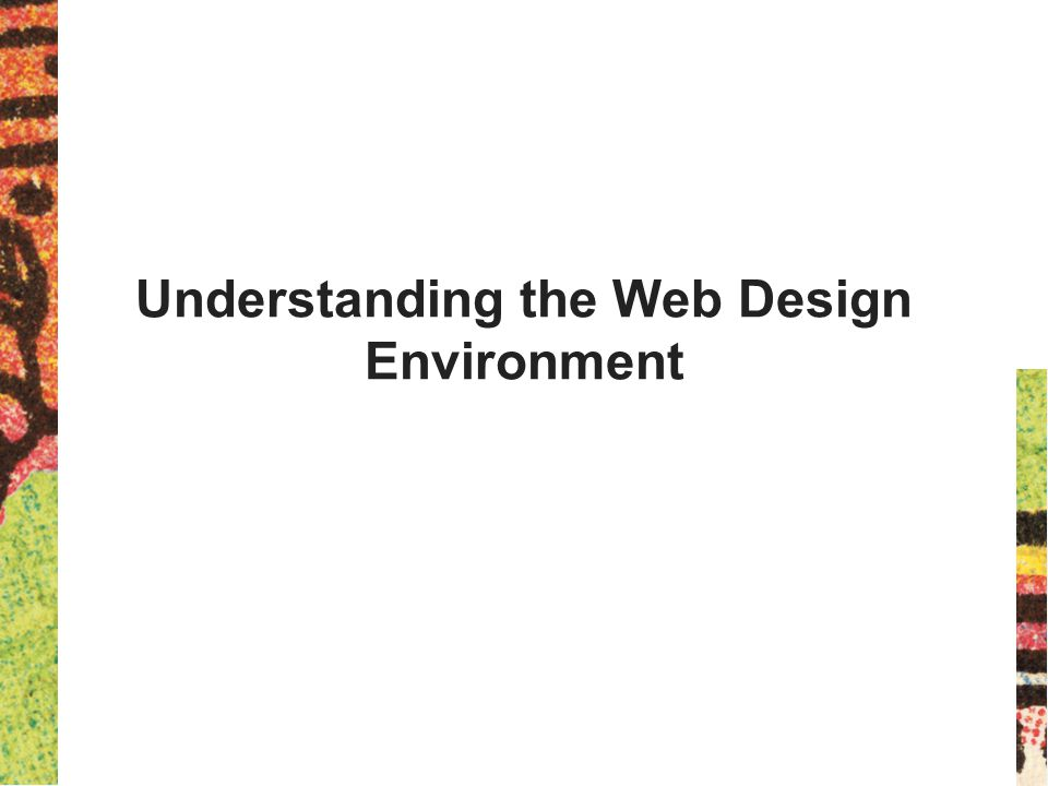 Understanding the Web Design Environment