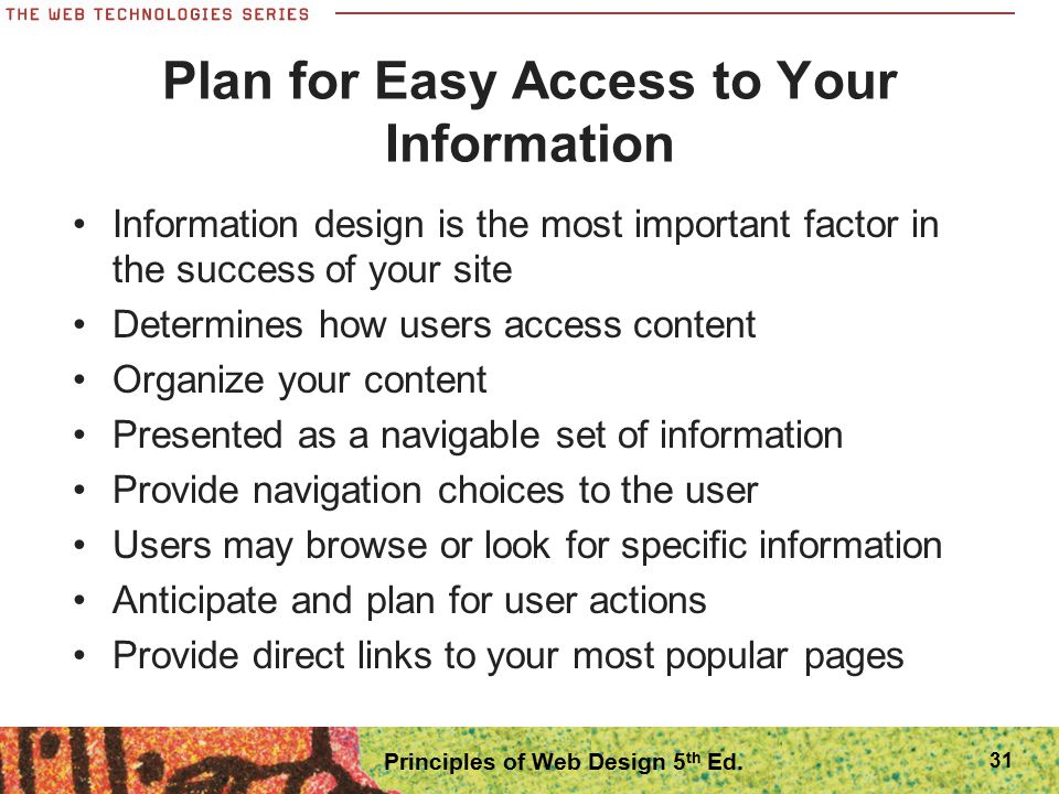 Plan for Easy Access to Your Information