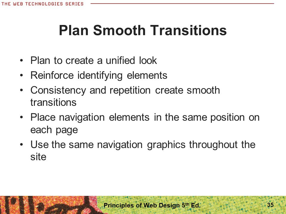 Plan Smooth Transitions
