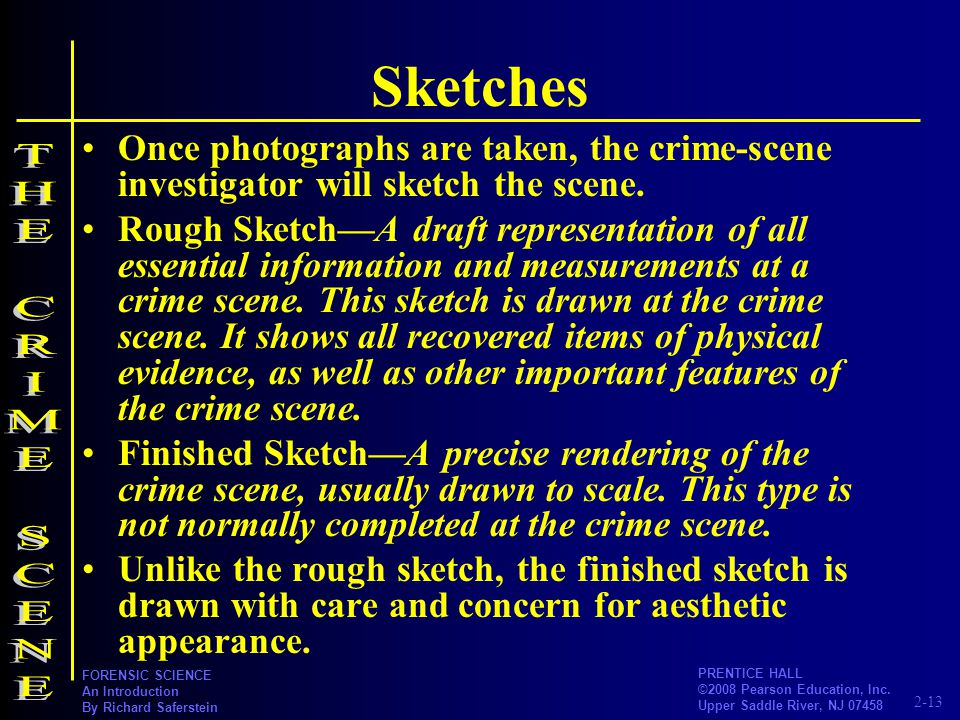 Sketches THE CRIME SCENE