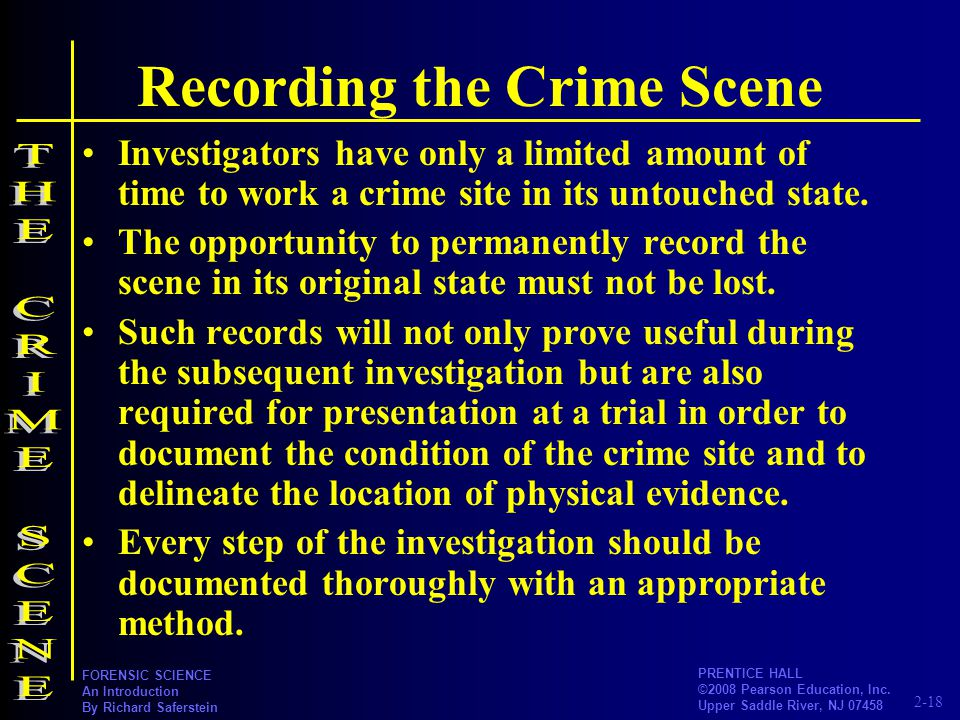 Recording the Crime Scene
