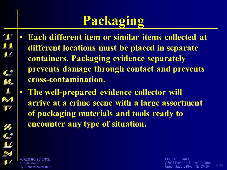 Packaging THE CRIME SCENE