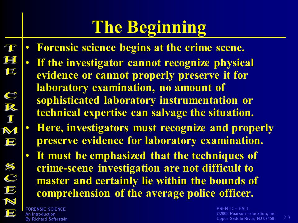 The Beginning THE CRIME SCENE