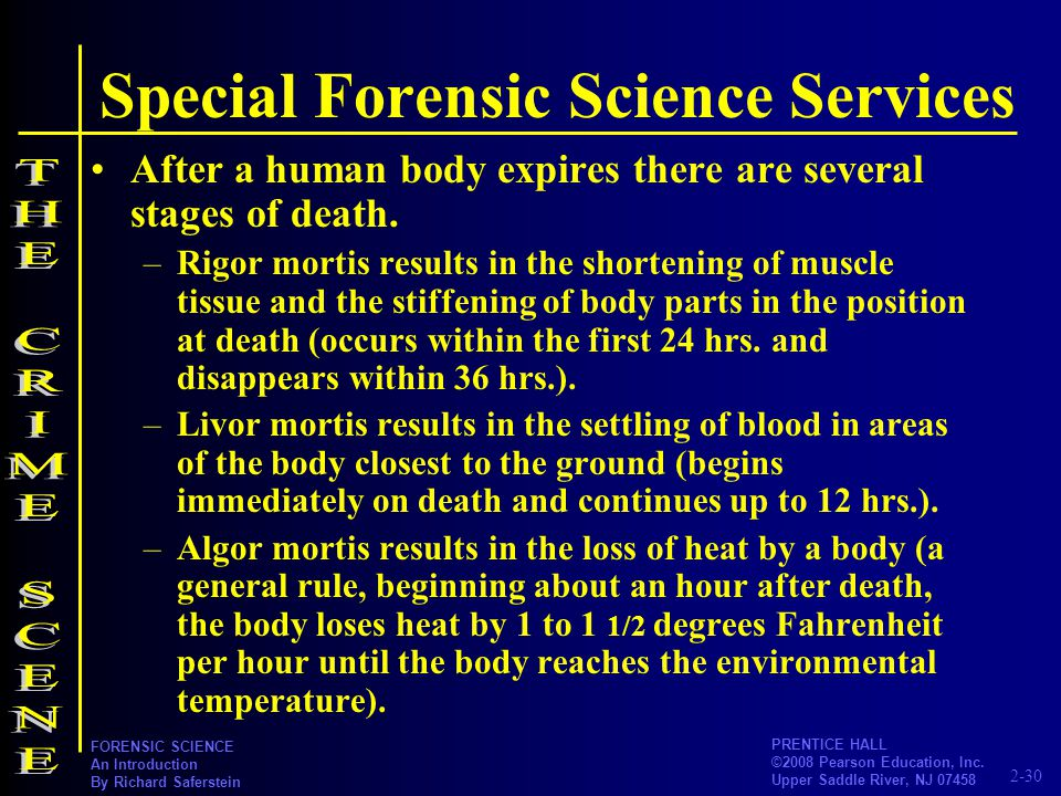 Special Forensic Science Services