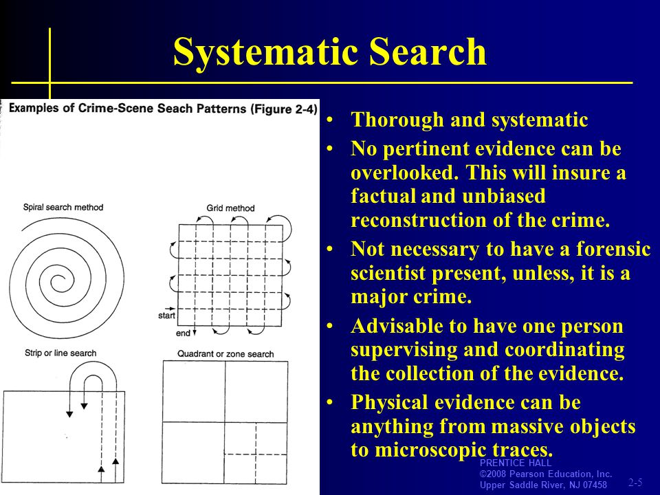 Systematic Search Thorough and systematic