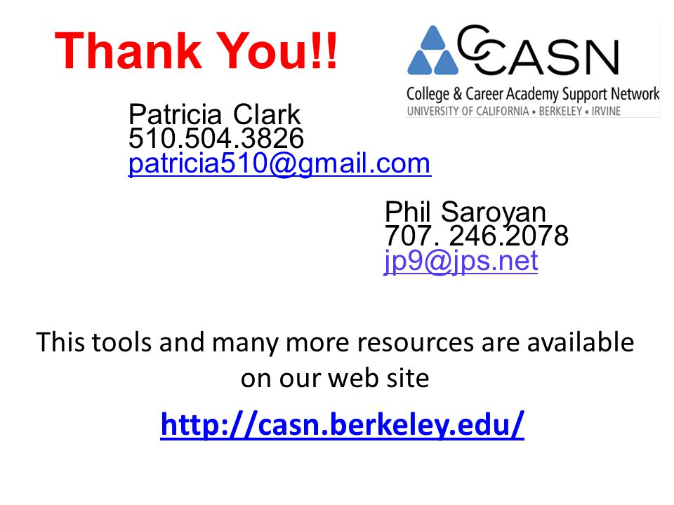 This tools and many more resources are available on our web site