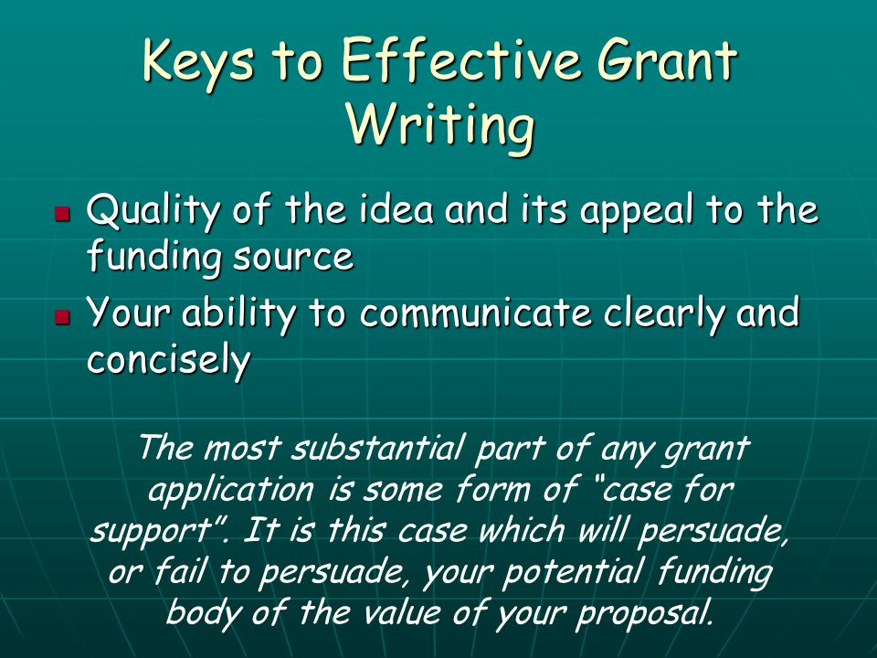 Keys to Effective Grant Writing