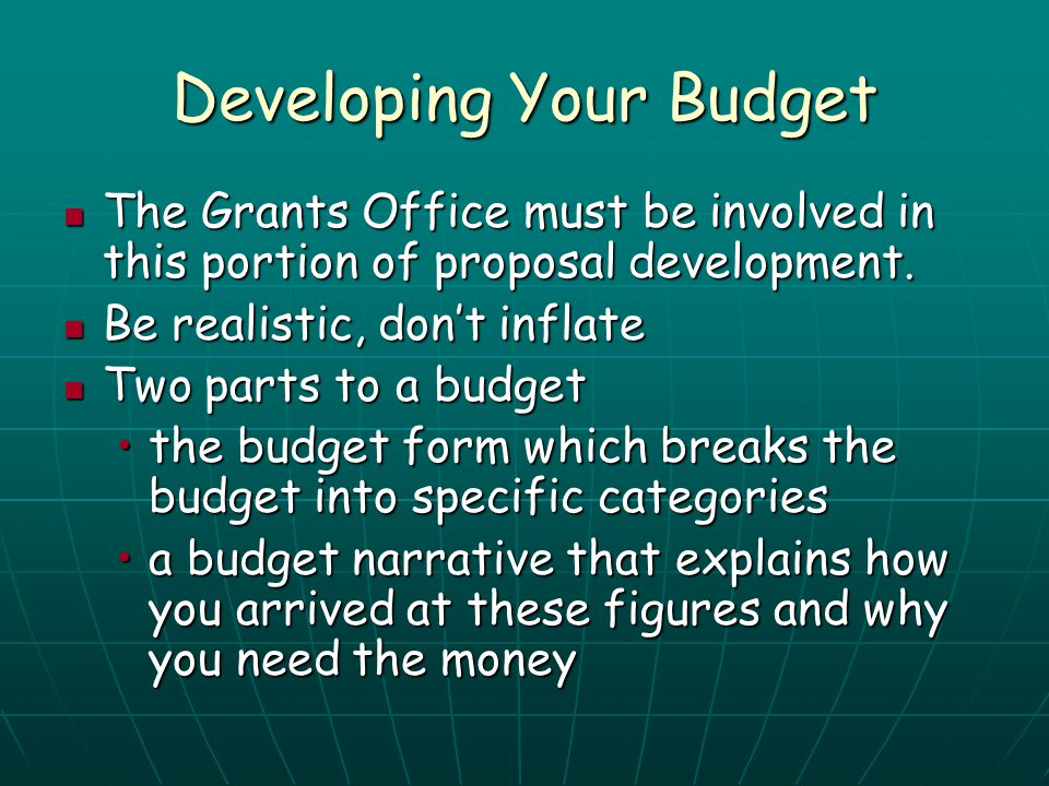 Developing Your Budget