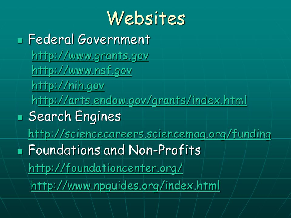 Websites Federal Government Search Engines