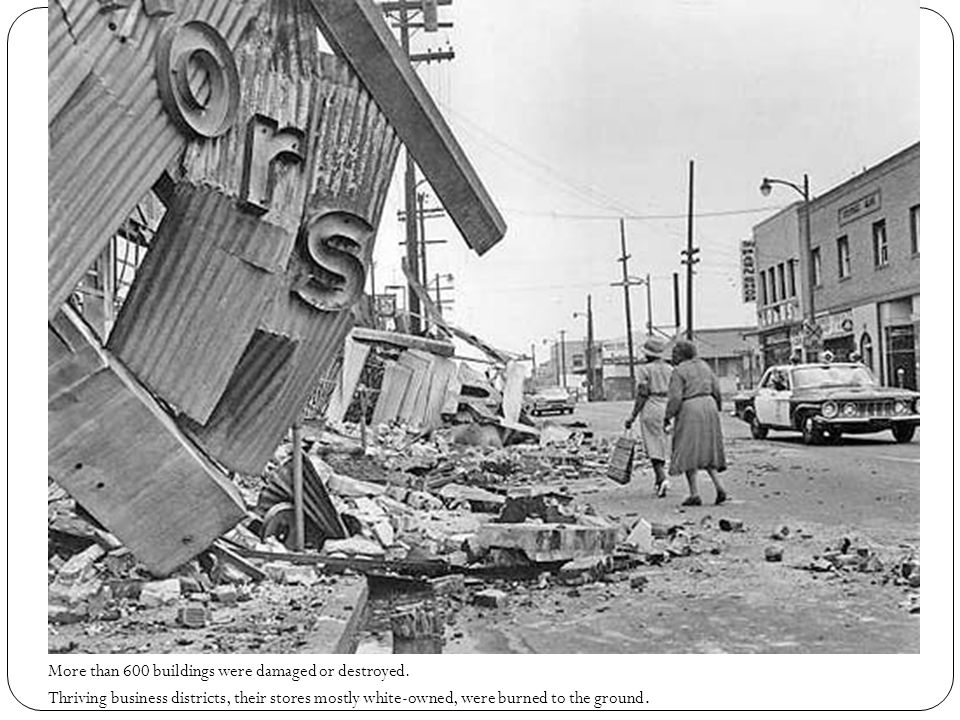 More than 600 buildings were damaged or destroyed.