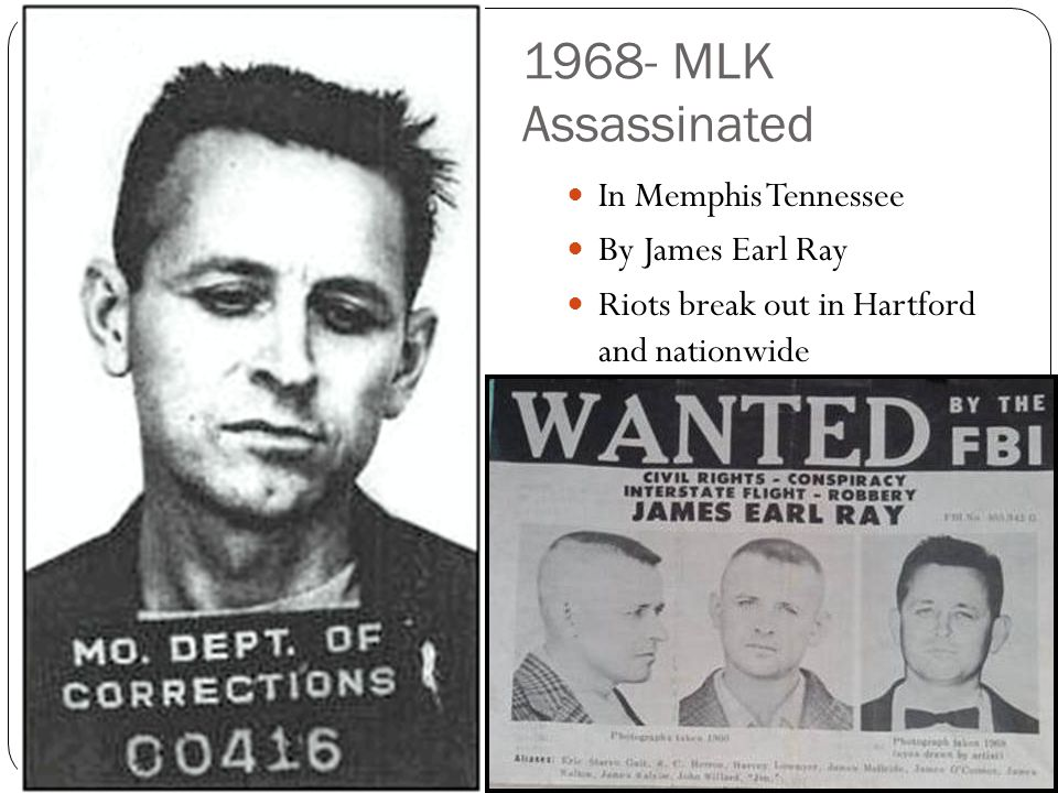1968- MLK Assassinated In Memphis Tennessee By James Earl Ray
