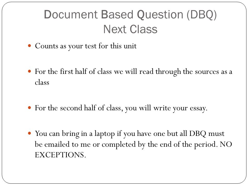 document based question essays