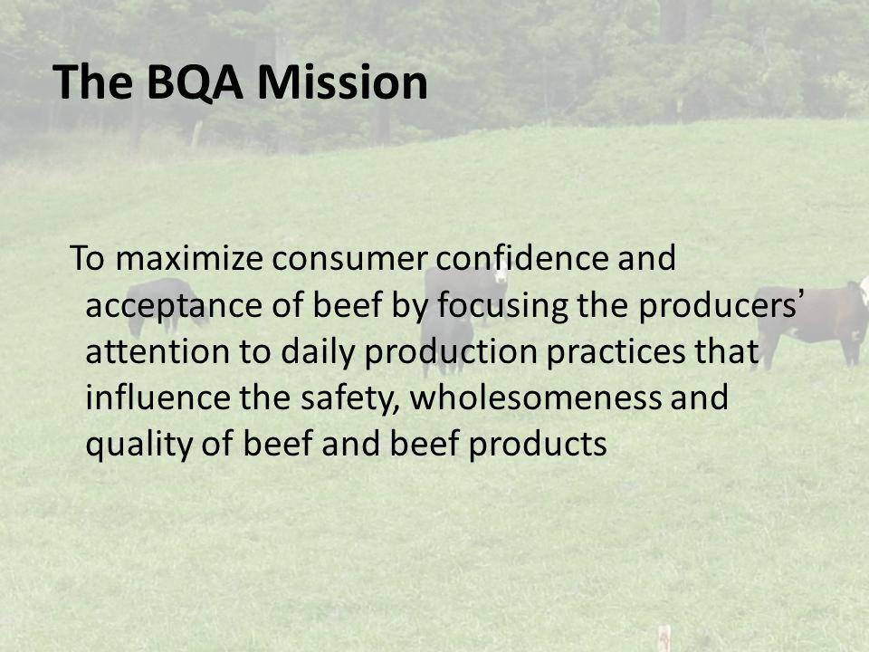 The BQA Mission