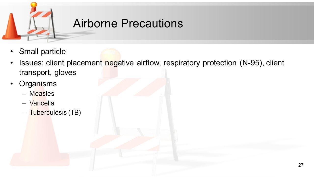 Airborne Precautions Small particle