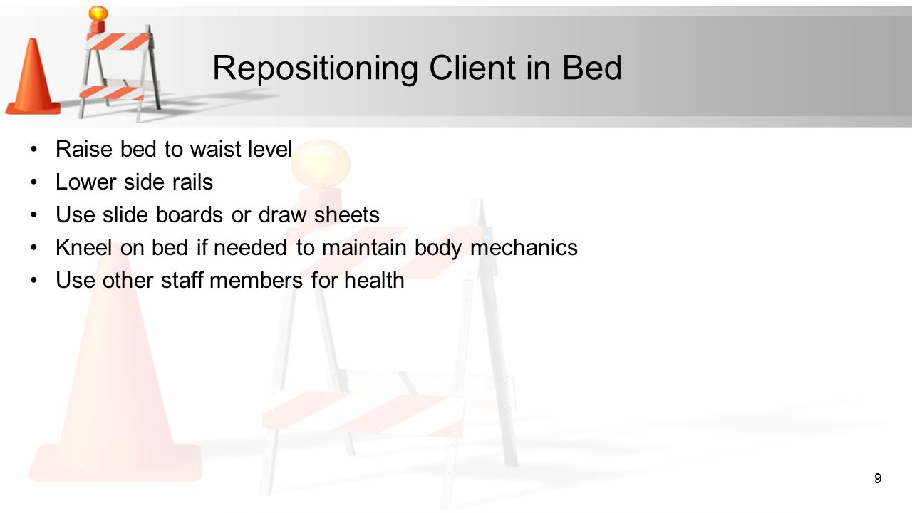 Repositioning Client in Bed