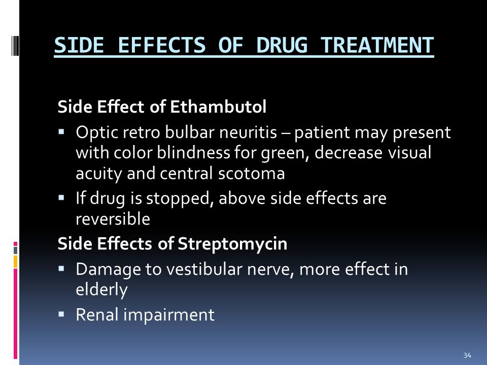 SIDE EFFECTS OF DRUG TREATMENT