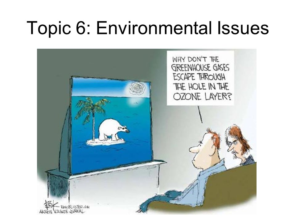 Topic 6: Environmental Issues