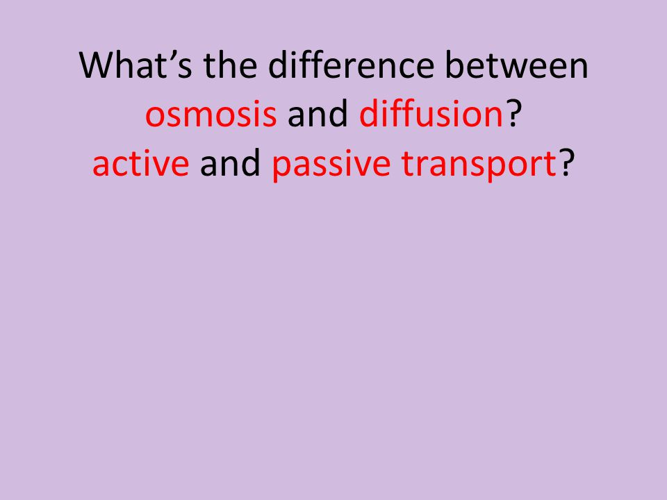 What's the difference between osmosis and diffusion