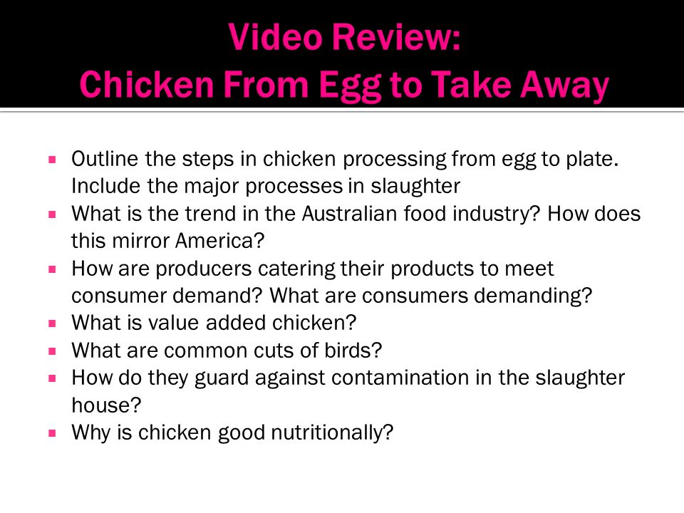 Video Review: Chicken From Egg to Take Away