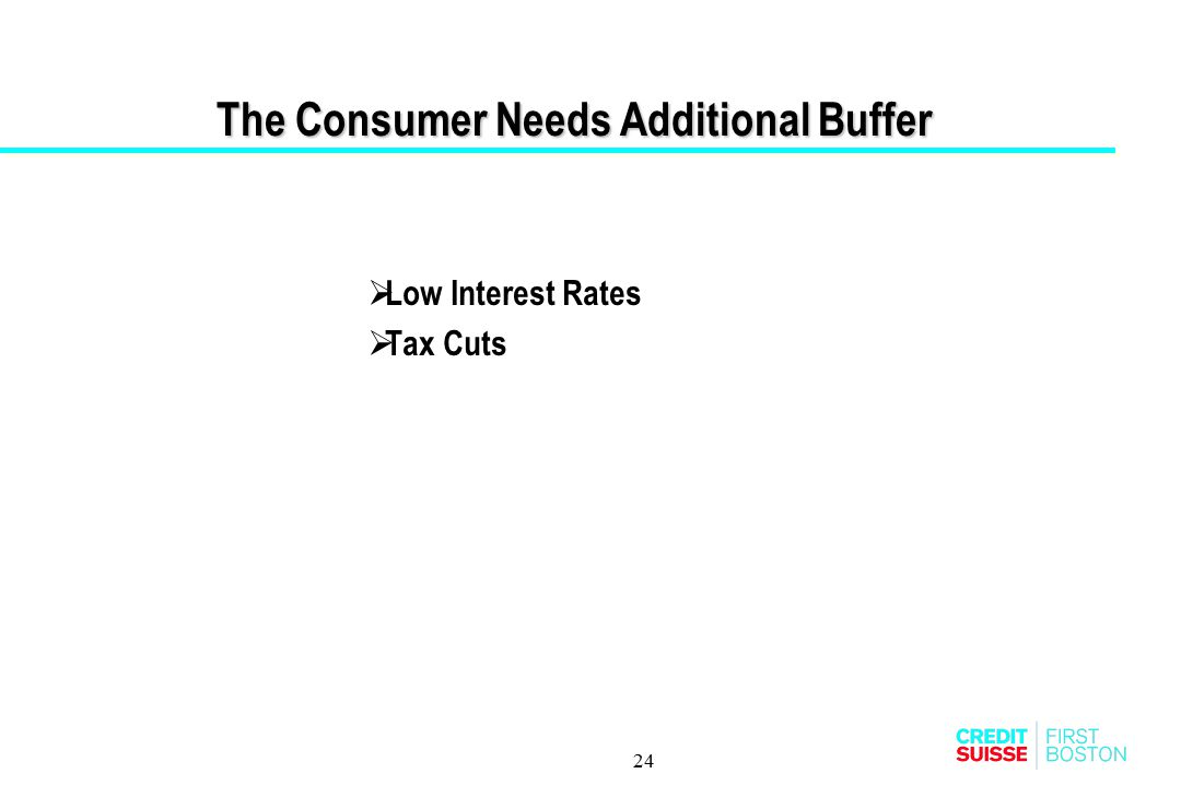 The Consumer Needs Additional Buffer