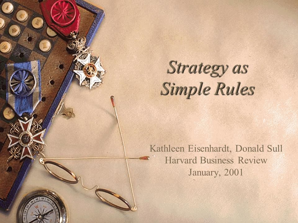 Strategy as Simple Rules