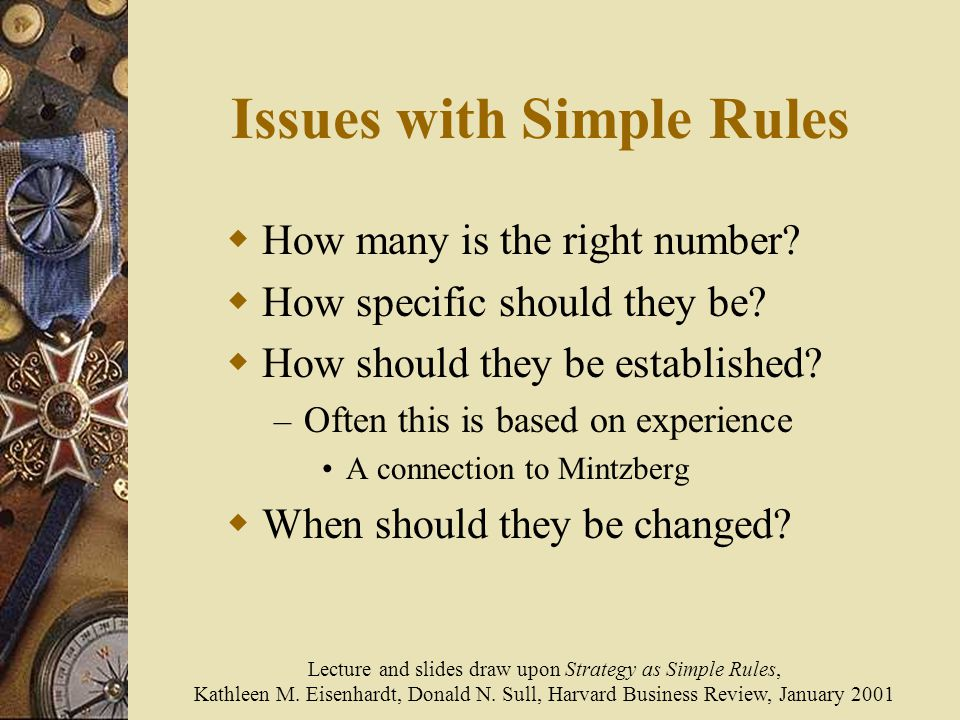Issues with Simple Rules