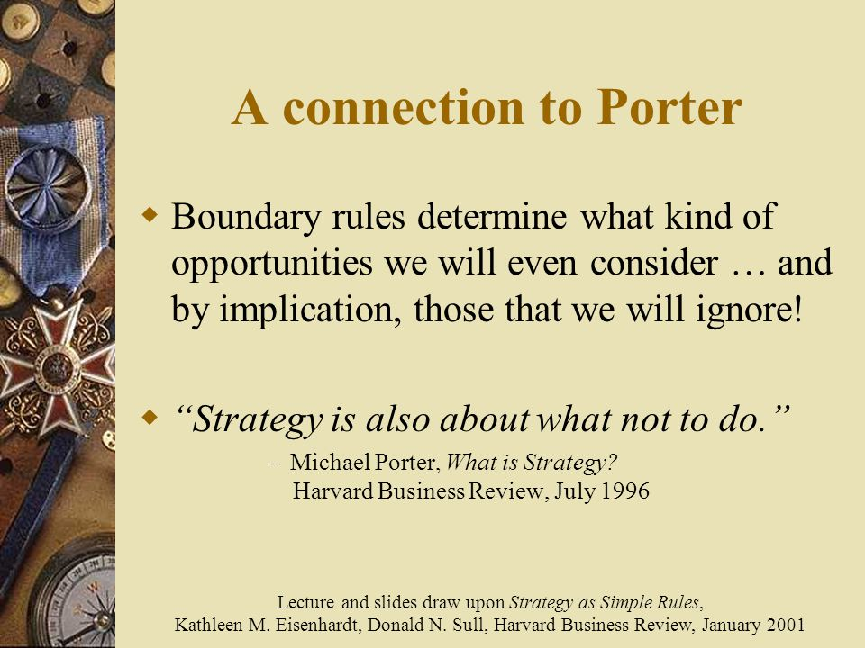 strategy as simple rule Strategy is a struggle i don't think any organizations has a bad strategy or approach, then why some wins and some fails most companies have aspirations, usually framed as a mission statement .